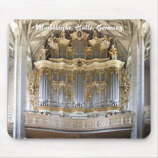 órgano en Marktkirche, mousepad de Halle