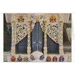 órgano en Marktkirche, tarjeta de felicitación de