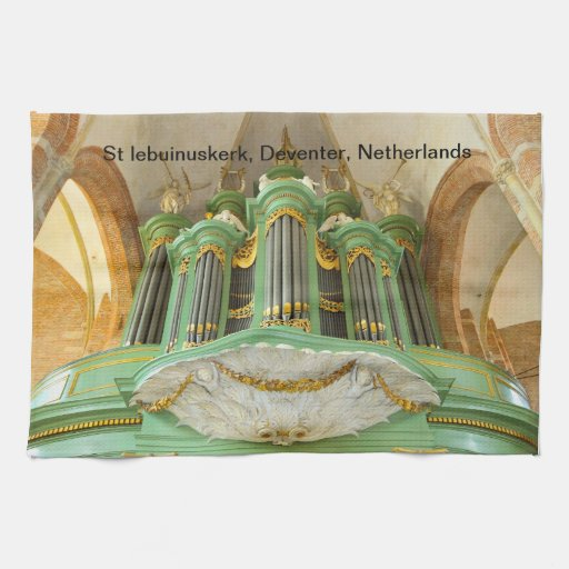 Órgano en St Lebuinuskerk Deventer Toallas De Mano
