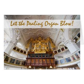 Órgano en Stadtkirche, tarjeta de Navidad de Celle