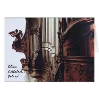 órgano en tarjeta de felicitación de la catedral
