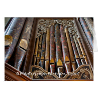 Órgano, Framlingham, tarjeta de felicitación