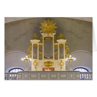 Órgano francés de la iglesia, Berlín Tarjeta De Felicitación