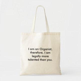 órgano, soy organista, por lo tanto, soy legall… bolsa tela barata