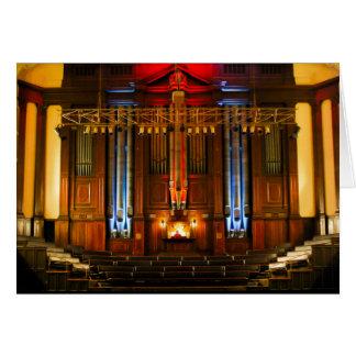 Órgano y organista tarjeta de felicitación