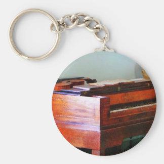 Órgano y violín llavero redondo tipo pin