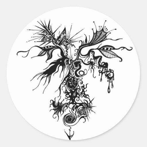 Organometálico Pegatina Redonda