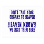 Órganos al cielo postales