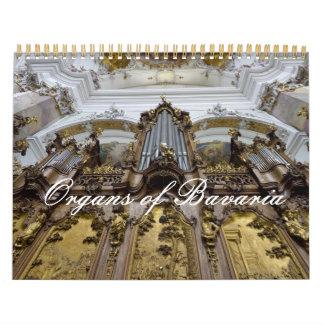 Órganos de la iglesia del calendario de Baviera