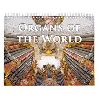 Órganos del calendario del órgano del mundo