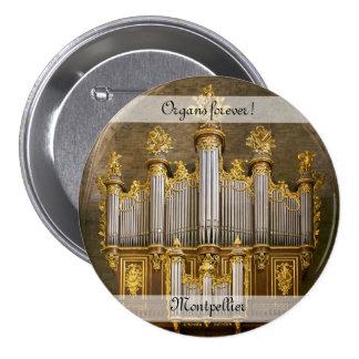 ¡Órganos para siempre! Botón de la catedral de Pin Redondo De 3 Pulgadas