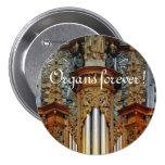 ¡Órganos para siempre! Botón de la catedral de Rod Pins
