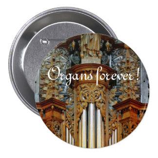 ¡Órganos para siempre! Botón de la catedral de Rod