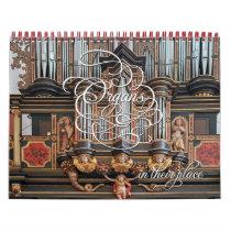 Organs in their place - horizontal calendar