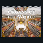 "Organs of the World pipe organ calendar<br><div class=""desc"">Featuring organs from around the world, this calendar is the perfect New Year gift for any musician, but especially organists. Instruments shown are sometimes famous but others are little gems that are not so well-known; some are huge and ornate, others are smaller and less ornamented. But they all have appeal...</div>"