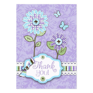 Organza Flowers B TY Notecard Lav Business Card Template