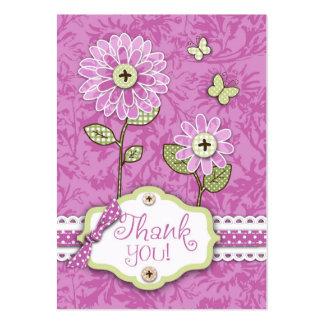 Organza Flowers B TY Notecard Pink Business Card