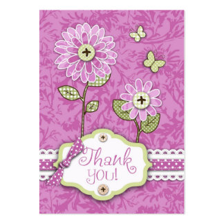 Organza Flowers TY Gift Tag Large Business Card