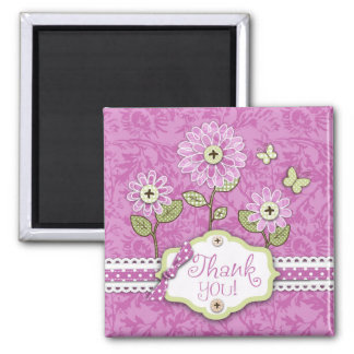 Organza Flowers TY Magnet Pink