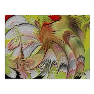 ORGINAL ART WORK SIGNED BoZo FENG SHUI COLLECTION Postcard