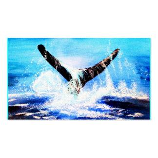"Orginalbild ""the whale"" by Eva Borowski Business Card"