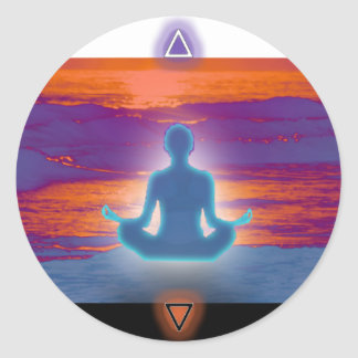 Orgone Meditation at Twilight Classic Round Sticker