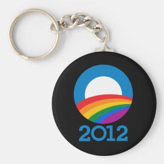 Orgullo 2012 de Obama Llavero