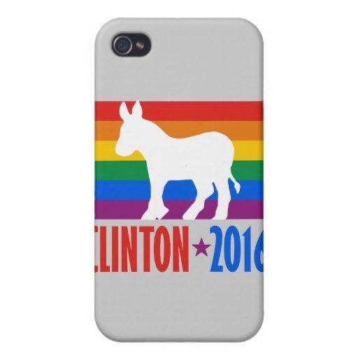 ORGULLO 2016 DE CLINTON - .PNG iPhone 4/4S FUNDA