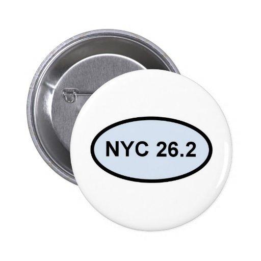 orgullo 2,0 del nyc 26,2 pin