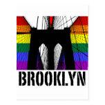 Orgullo 3 de la silueta del puente de Brooklyn Tarjeta Postal