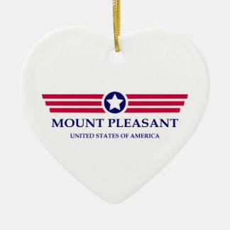 Orgullo agradable del soporte adorno de cerámica en forma de corazón