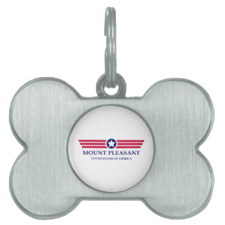 Orgullo agradable del soporte placa de mascota