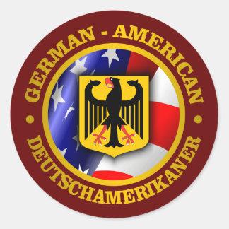 Orgullo Alemán-Americano Pegatinas Redondas
