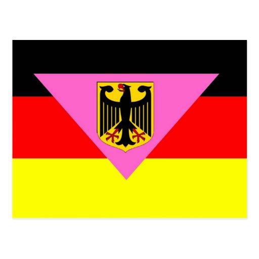 Orgullo alemán de GLBT Tarjeta Postal