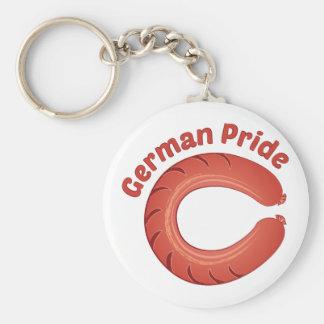 Orgullo alemán llavero redondo tipo pin
