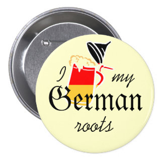 Orgullo alemán pin redondo de 3 pulgadas