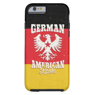 Orgullo americano alemán Eagle y bandera Funda Para iPhone 6 Tough