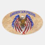 Orgullo americano Eagle Calcomania Óval Personalizadas