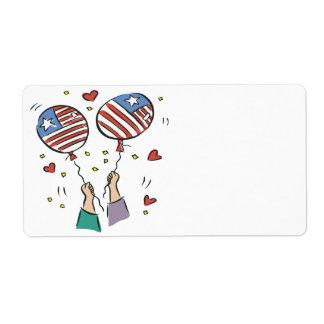 Orgullo americano etiqueta de envío