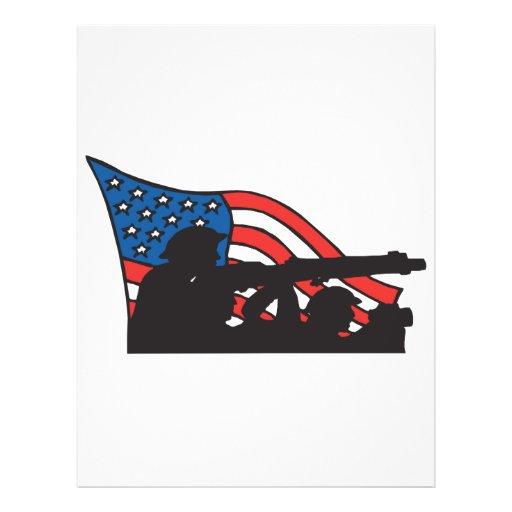 Orgullo americano tarjetas publicitarias