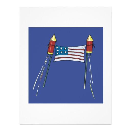 Orgullo americano flyer a todo color