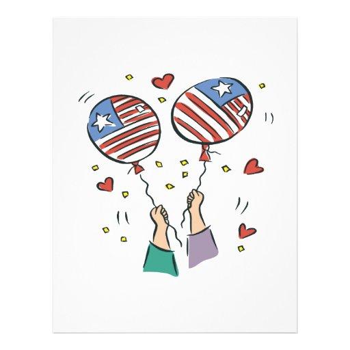 Orgullo americano tarjetón
