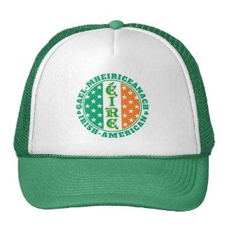 Orgullo americano irlandés - bandera de Éire con Gorro
