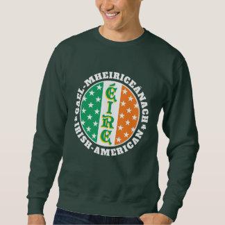 Orgullo americano irlandés - bandera de Éire con Suéter