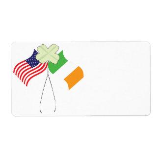Orgullo americano irlandés etiquetas de envío