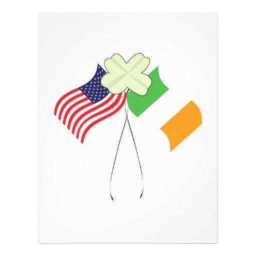 Orgullo americano irlandés tarjetones