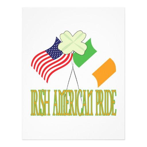 Orgullo americano irlandés tarjeta publicitaria