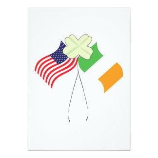 """Orgullo americano irlandés invitación 5"""" x 7"""""""