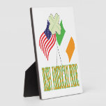 Orgullo americano irlandés placas de madera