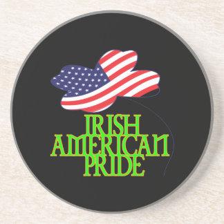 Orgullo americano irlandés posavasos para bebidas